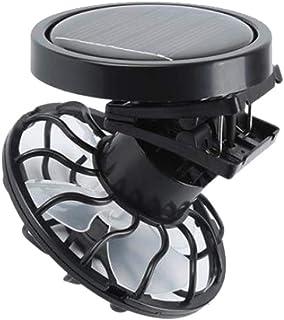 lahomia Ventilador Solar con Sombrero Manos Libres con Clip para Los Fanáticos De La Energía del Sol De La Pesca De Verano