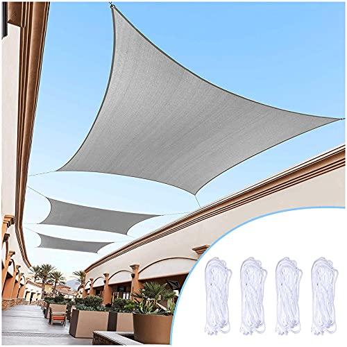 Z&X Vela De Sombra Rectangular Toldo Jardin Exterior Impermeable Resistente Toldo De Bloqueo UV del 95% por Exterior Patio Y Jardín Yarda Ocupaciones 2m,3m,4m,5m(Size:2 * 3m(7'*10'))