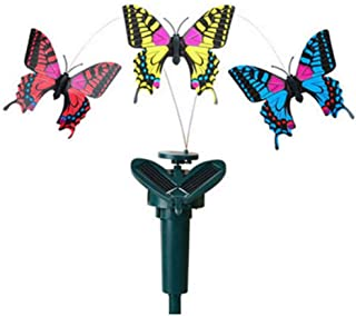 1pc Vibration Solar Power Flying Butterfly Dancing Flying Fluttering Butterflies Garden Decoration