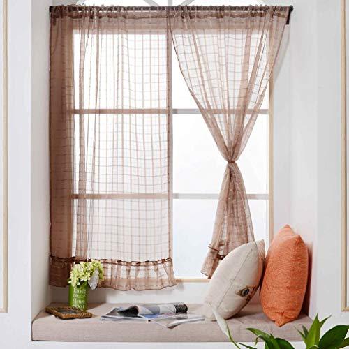 MaoDaAiMaoYi gordijnen met kant, hekwerk voor ramen, unieke behandeling voor ramen, deur, blauw Size Gelb
