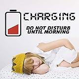 Adhesivo decorativo para pared con texto en inglés «Charging Don't Disturb» para habitación de niños, vinilo para cocina, habitación de niños, pegatinas para niños, murales para niños