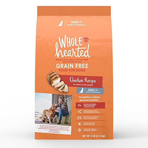 WholeHearted Grain Free Senior Chicken Recipe Dry Dog Food, 5 lbs.