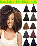 Hot Sell Kanekalon Curly Afro Kinky Bulk Extension Hair for Braiding COLOR Honey Brown #4 LENGTH 12'' Three Pack Deal!!!