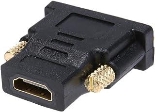PULABO ハイエンドHDMIアダプタDVIオスにHDMIメスコンバータ24 + 1 HD HDMIオスにPC、PS4、プロジェクター、モニターなどの金メッキケーブル付き1ピースDVI操作簡単です