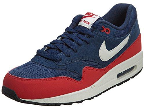 Nike Herren Air Max 1 Essential Sportschuhe, Blau Mdnght Navy Lght Bn Unvrsty Rd, 42 EU