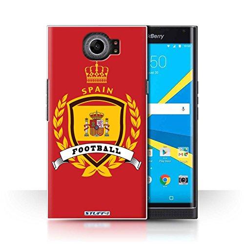 Stuff4 Carcasa/Funda Dura para el Blackberry Priv/Serie: Emblema de fútbol - España Español