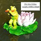 BENGKUI Skulptur,Kreative Süße Schwimmende Cartoon Schildkröte Kajak Statue Outdoor Garten Teich Dekorative Skulptur Garten Fisch Tank Dekor Ornament, 10