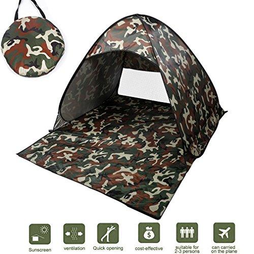 NICEAO Wurfzelt / Strandmuschel, Tragbares Campingzelt, schneller Aufbau, als Unterstand beim Angeln, schützt vor UV-Strahlung, für Strand, spendet Schatten, camouflage