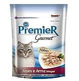 Premier Gourmet Gato Atum e Arroz Ração Úmida Premier Gourmet para Gatos Sabor Atum e Arroz Integral 70g Premier Pet Raça Adulto,