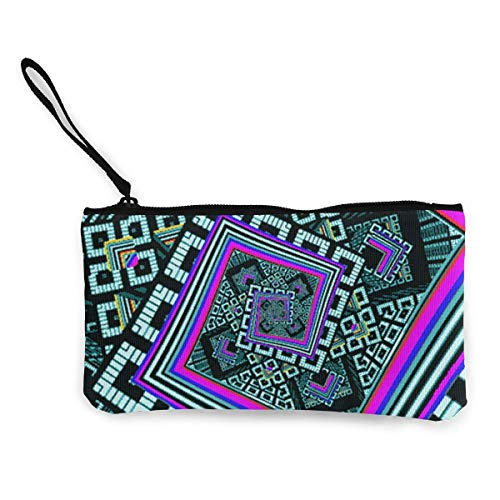 Kaleidoskop Trippy Acid Canvas Cash Coin Geldbörse Makeup Bag Handy Wristlets mit Armband