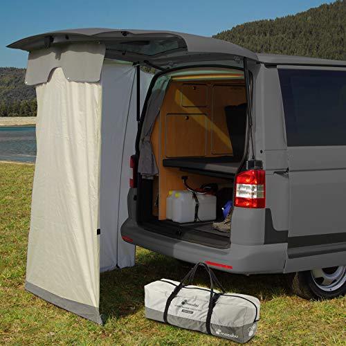 mocabu Heckzelt Reisezelt kompatibel für VW T4 T5 T6 inkl. Befestigungskit, Duschzelt, Stauzelt