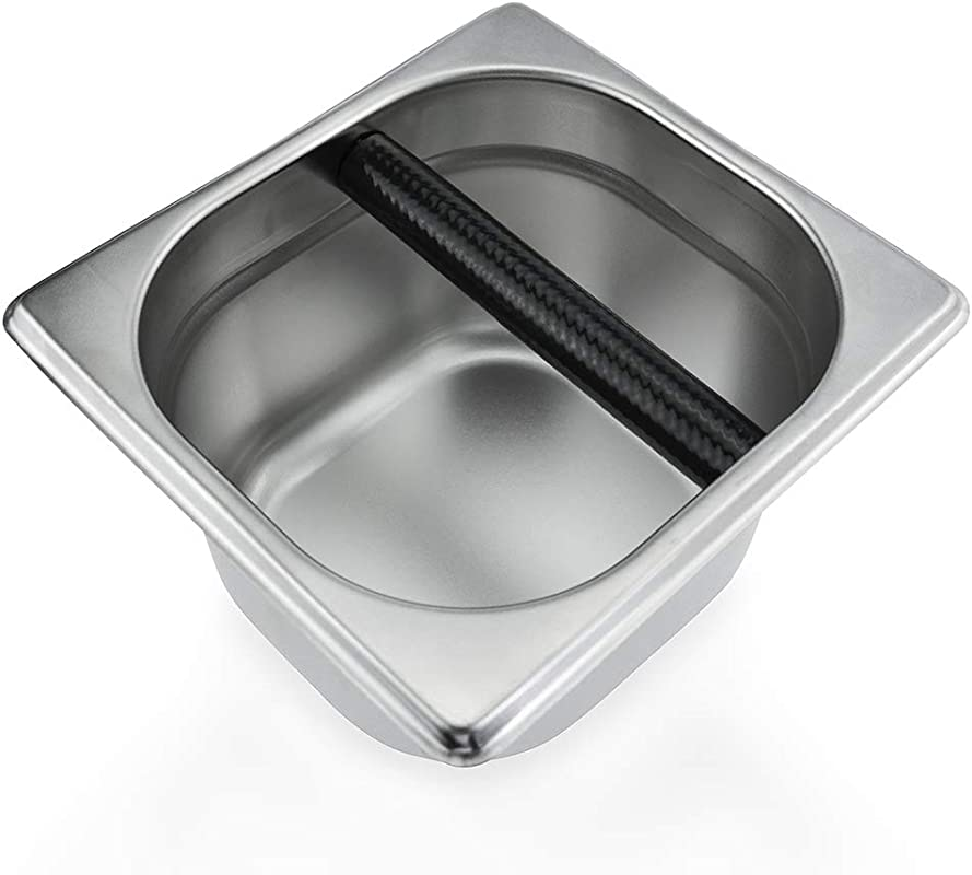 Coffee Knock Box Stainless Steel Espresso Knock Box Container For Coffee Ground 6 3 X 6 89 X 3 7 Inch