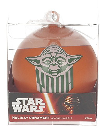 Star Wars YODA Weihnachtskugel, weiß, 8x 8x 8