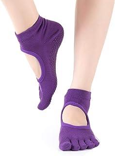 NEWMAN771Her, NEWMAN771Her 1 par de Calcetines de Yoga Antideslizantes Calcetines de Yoga para Mujeres para Pilates Ballet Dance Barefoot Workout