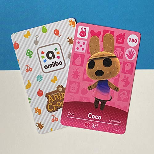 No.150 Coco Nintendo Switch Animal Crossing Amiibo Cards Series 2. Bank Card Size. Third Party NFC Card. Water Resistant. Wearable and Durable
