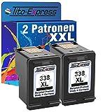Tito-Express PlatinumSerie 2X Druckerpatrone für HP 338 XL Black PSC 1510 1500 1510S 1510XI 1513S 1600 1603