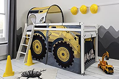 Noa and Nani - Midsleeper Cabin Bed with Diggers Tent and Tunnel