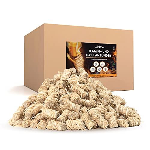 Bolson Grill- & Kaminanzünder (10 kg) aus Holzwolle & Wachs - Ökologische & FSC zertifizierte Anzündwolle - nach DIN hergestellte Holzwolle Anzünder - Grillanzünder Feueranzünder für Kamin & Ofen