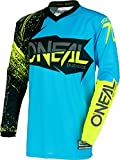 0008-903 - Oneal Element 2018 Burnout Motocross Jersey M Negro Azul Hi-Viz