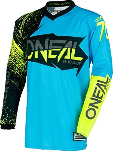 0008-903 - Oneal Element 2018 Burnout Motocross Jersey M Nero Blu Hi-Viz