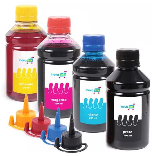 Kit 4 Tintas Compatível Impressora L3150 250 Inova Ink