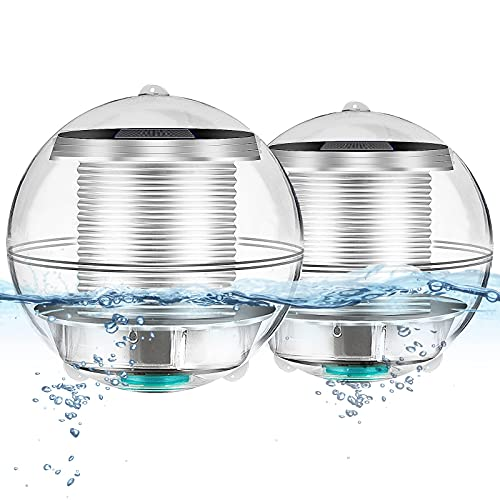 Unterwasser Licht Teichlicht Pool-Licht Pool-Beleuchtung Teichbeleuchtung Schwimmende Lampen Solar Schwimmkugel teichbeleuchtung...