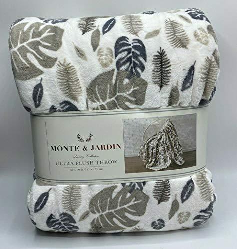 Monte & Jardin Ultra Plush Throw 60 x 70 in (Leaves)