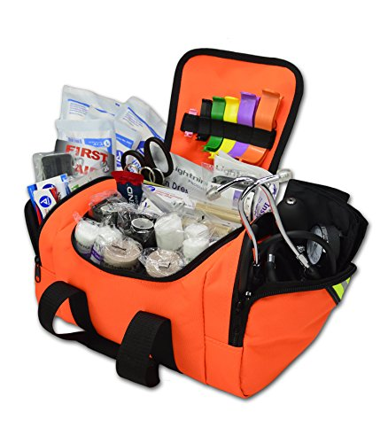 Lightning X Value Compact Medic First Responder EMS/EMT Stocked Trauma Bag w/Standard Fill Kit B - Orange