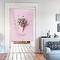 サンサンフー のれん 花 壁掛け 85x120cm (ローズブーケ) CN008501492