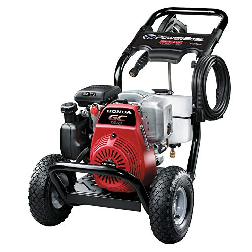 PowerBoss 3100 MAX PSI at 2.4 GPM Gas Pressure Washer with Detergent Tank, 25-Foot High-Pressure Hose, and 4 Quick-Connect Nozzles, Powered by...