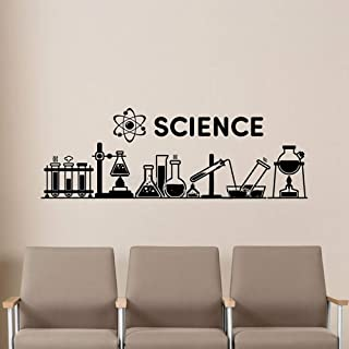 Natrire Science Quote Wall Decal Chemical Scientist Equipment Lab Wall Sticker Education Classroom Study School Decor Poster Mural