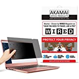 """13.3"""" Akamai Computer Privacy Screen (16:9) - Black Security Shield - Laptop Monitor Protector - UV & Blue Light Filter (13.3 inch Widescreen (16:9), Black)"""