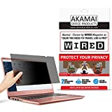15.6' Akamai Computer Privacy Screen (16:9) - Black Security Shield - Laptop Monitor Protector - UV...