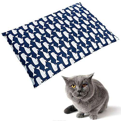 Camas para Mascotas Colchón Cómodo Almohadillas para Perrera Lavables para El Hogar y El Automóvil Fondo Suave Antideslizante Que Se Calienta AutomáticamenteBlue-X Large