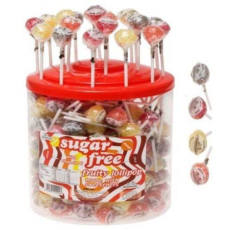 4 x Sugar Free Fruity Lollipops with Vitamin C Simpkins (Apple, Cherry, Orange & Lemon)
