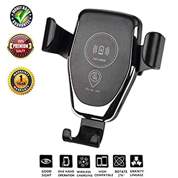 Automatic Qi Wireless Charger Car Mount Phone Holder: photo