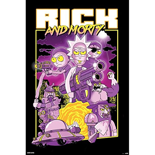 Grupo Erik GPE5235 Póster Rick and Morty caracteres, solo, 61 x 91.5 cm