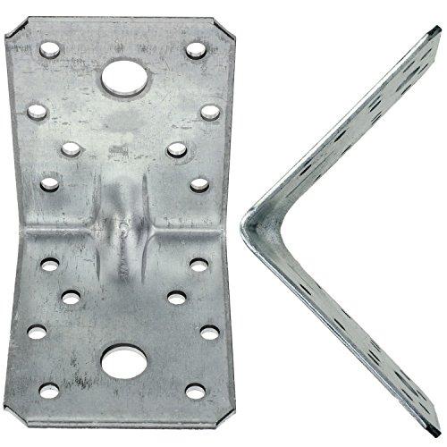 25 Winkelverbinder 70x70x55, Dicke 2,5 mm, verzinkt, mit Steg/Rippe