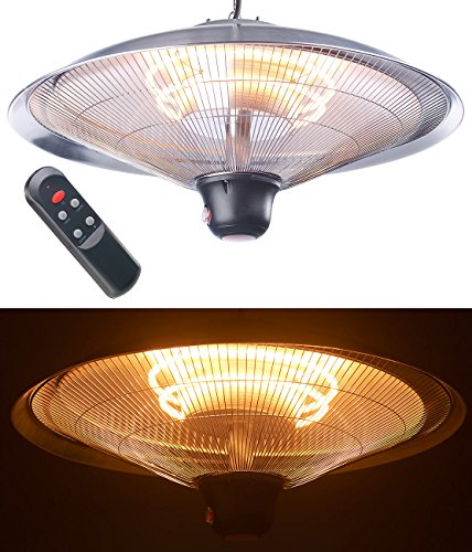 Semptec Deckenheizstrahler: IR-Decken-Heizstrahler mit LED-Licht, Fernbedienung, bis 2.000 W, IP34 (Infrarotheizstrahler) - 2