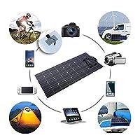 ソーラーパネル、18V120W単結晶Etfeチップソーラーパネルバッテリー充電器、自動車用フロントケーブル付きソーラーパネルモジュール