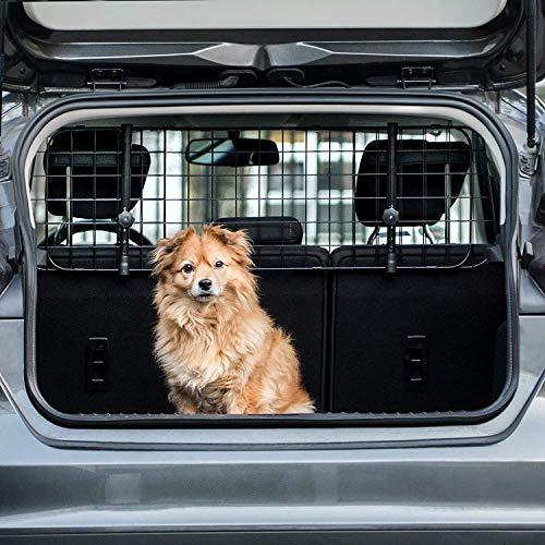 Heldenwerk® Universal Kofferraum Trenngitter für Hunde - Auto Hundegitter zum Transport für deinen Hund - Schutzgitter mit Kopfstützen-Befestigung - Stufenlos verstellbares Kofferraumschutz Gitter
