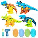 Hyctoylist : Take Apart Dinosaur Kit - STEM Learning Toys for Boys and Girls Aged 3, 4, 5, 6, 7, 8 and 9 - with Electric Screwdriver - Best Dino Gift for Kids