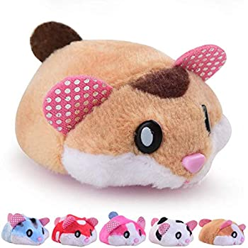 Hamster Toys for Kids Little Girl Boys Gift Suitable Toddlers Tools,Electric Tiny Track Toys Age 4-5 6-7 Great Gifts for Kids Hamburger Restaurant Pets Set Toy
