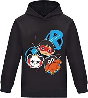 Thombase Ryan'ss World YouTube Merch Ryans Toys Review Kids Hoodies Long Sleeve Tops