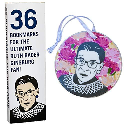 Ruth Bader Ginsburg - Bookmarks and Ceramic Art Bundle