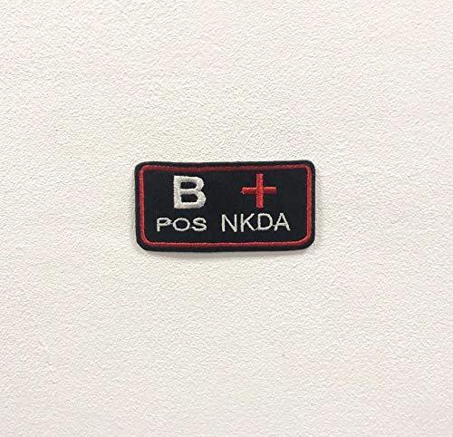 Parche bordado para planchar o coser con la marca B Positive NKDA