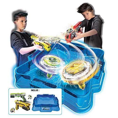 Spinner Mad by Silverlit - Pack Deluxe 2 joueurs - 1 arène, 2 blasters et 2 toupies LED