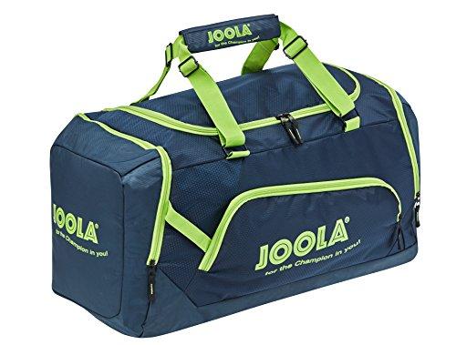 JOOLA Sporttasche COMPACT Reisetasche Geräumige Tischtennis-Tasche mit Hauptfach und Nebenfach, Navy/Grün, 68 x 38 x 30 cm