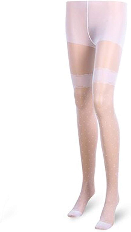 Meisiqw Women's Sexy Vintage Fake Tattoo Stockings Dot Print Thin Mesh Pantyhose