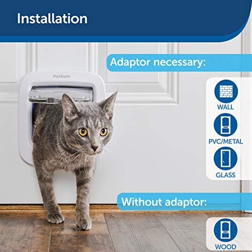 PetSafe Microchip Activated Cat Flap, Exclusive Entry, Easy Install, 4-Way Manual Locking, Energy Efficient, Draught Excluder, Convenient (New Version)